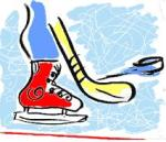 Hockey Art by Ice Skating Clip Art Galore