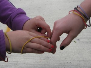 Banding Against Bullies, sharing bands ©  by M. Wilbourn