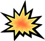 publiuc domain clip art explosion