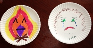 Angry_Sad Masks by M. WIlbourn