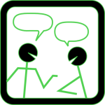 chat-people-with-green-highlights-md clker free clipart