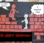 Brick wall of intolerance courtesy FWPS website