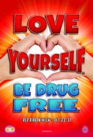 Red Ribbon Drug Free_Poster_12x18