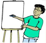 Boy doing presentation from Discovery Education Free Clip Art for Education