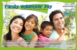 family volunteer day logo from generationOn
