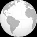Globe_centered_in_the_Atlantic_Ocean_ wikimedia commons