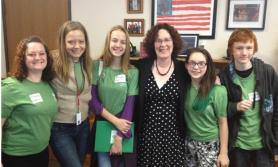 Interns and Students meet witn Oregon legislators (c ) Free Spirit Publish by L Lisovskis
