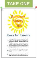 Summer Saftey Tips handout cover image