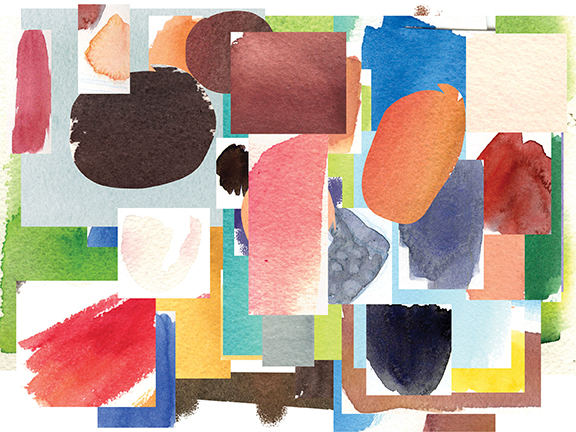 Painted watercolor swatches