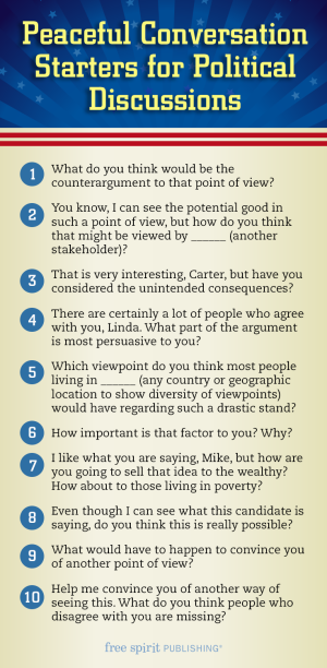 Peaceful Conversation Starters for Political Discussions