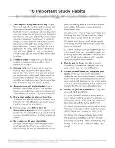 10 Important Study Habits 2