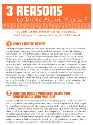 Print and Share: 3 Reasons to Write About Yourself
